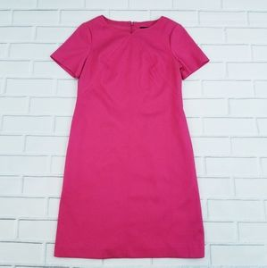 Adrianna Papell Raspberry Sheath Short Sleeve Dres